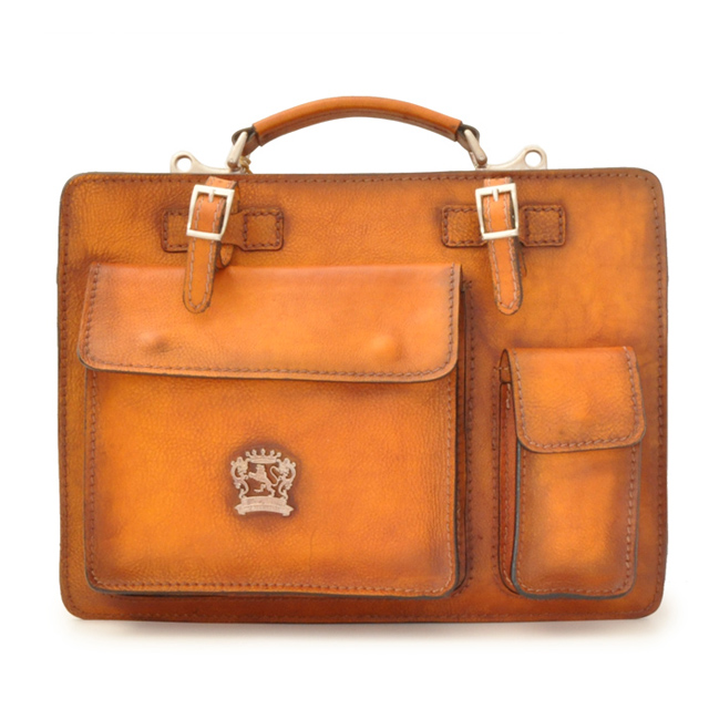 Pratesi Milano business bag cognac