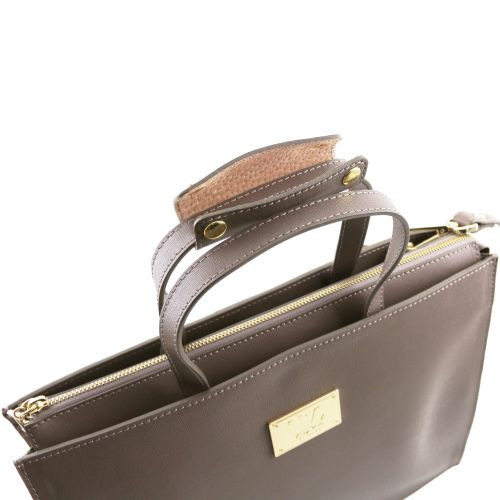 Tuscany Leather Palermo dames aktetas zwart