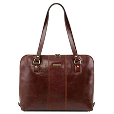 "Tuscany Leather Ravenna dames laptoptas 15,6"" bruin"