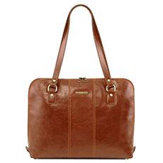 "Tuscany Leather Ravenna dames laptoptas 15,6"" cognac"