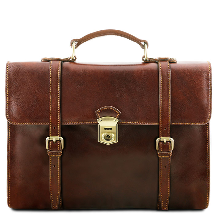 Tuscany Leather leren laptoptas Viareggio