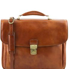 "Tuscany Leather Alessandria laptoptas 15,6"" cognac"