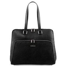 Tuscany Leather Lucca leren dames laptoptas zwart