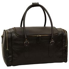 Old Angler leren Toscane travelbag zwart