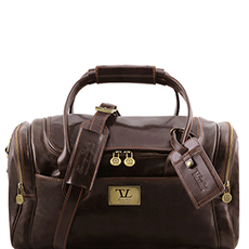 Tuscany Leather TL Voyager leren reistas donkerbruin