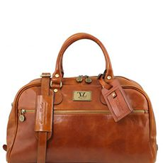 Tuscany Leather Voyager leren reistas cognac