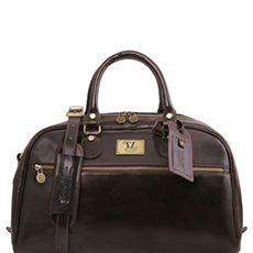 Tuscany Leather Voyager leren reistas donkerbruin
