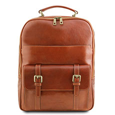 Tuscany Leather leren laptop rugzak Nagoya