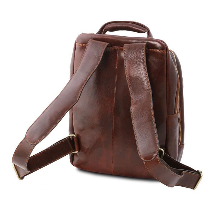 Tuscany Leather leren laptop rugzak Phuket