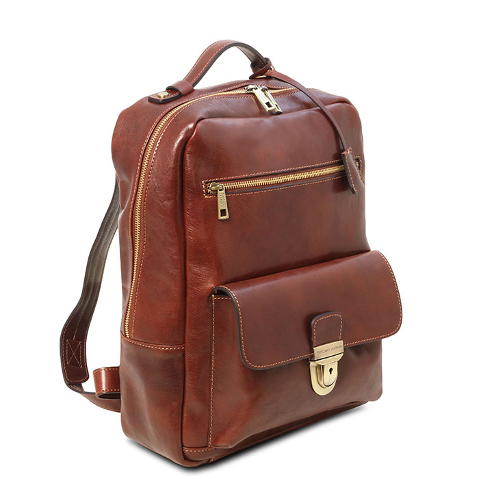 Tuscany Leather leren laptop rugzak Kyoto